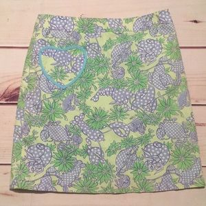 Lilly Pulitzer Skirt Size 4 Lobster skirt